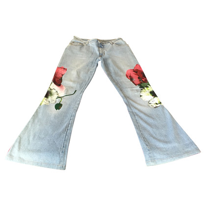 Blumarine Jeans met papavers