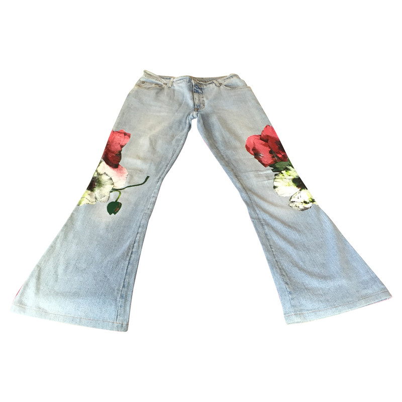 Blumarine Jeans with poppies