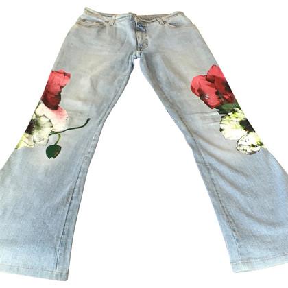Blumarine Jeans con papaveri