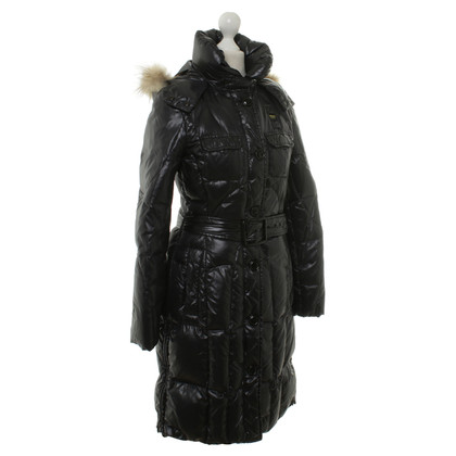 Blauer USA Quilted coat with fur
