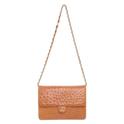 "Chanel Struisvogelleer ""Flap Bag"""