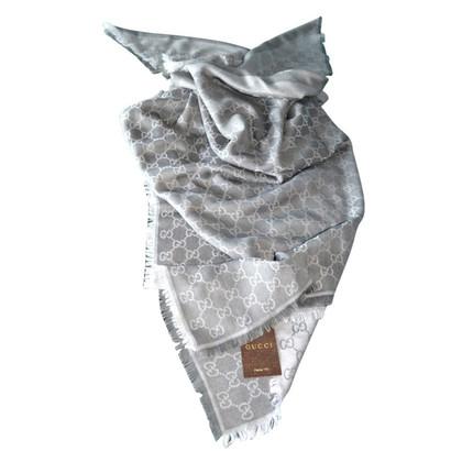 Gucci panno di seta Guccissima / lana