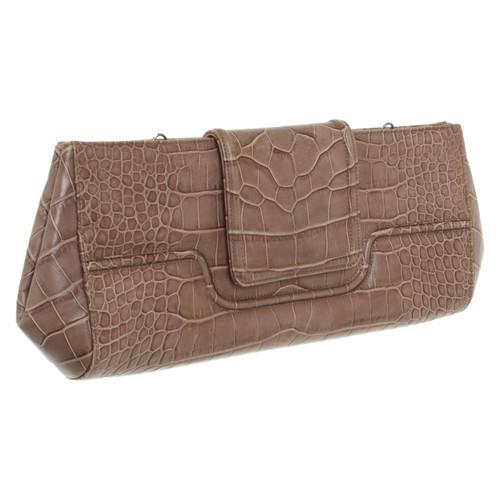 2335cde583 Giorgio Armani Clutch Bag Leather in Brown - Second Hand Giorgio ...