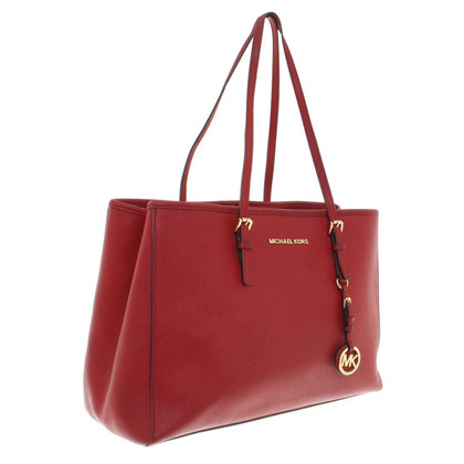 Michael Kors Jet Set Travel LG EW Tote Red