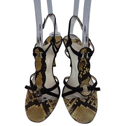 Unützer Sandals made of python leather