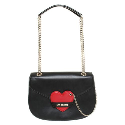 fa9feb482c Moschino Love Shoulder bag in black - Second Hand Moschino Love ...