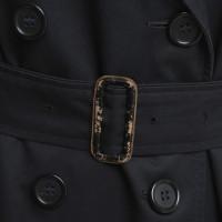 Burberry Short trench coat in dark blue