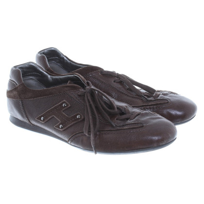 Hogan Sneakers in brown leather
