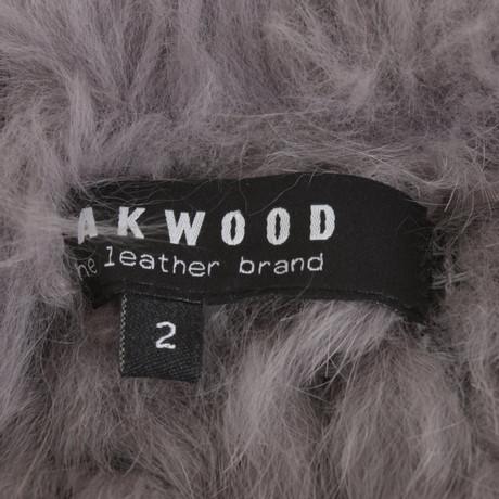 Grau Weste Oakwood Pelzbesatz mit mit Pelzbesatz Oakwood Grau Weste qwnEn8Fz