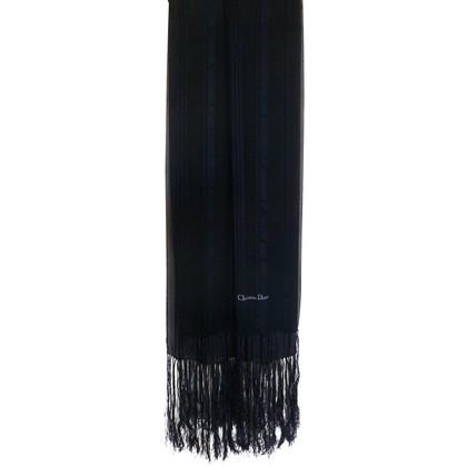 Christian Dior Zijden sjaal met franjes