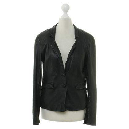 Muubaa Leren jas in zwart