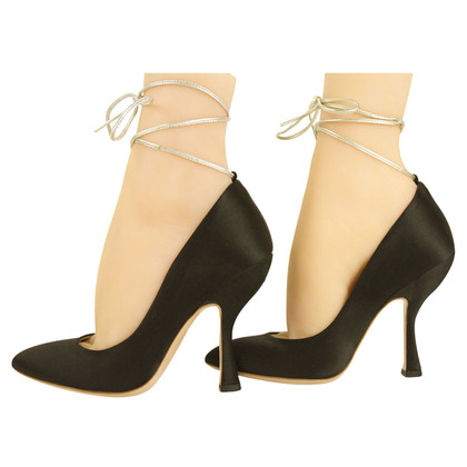 Miu Miu Black satinpumps