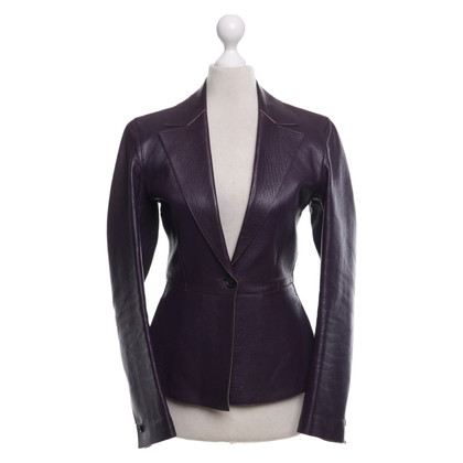 Prada Leather blazer in purple