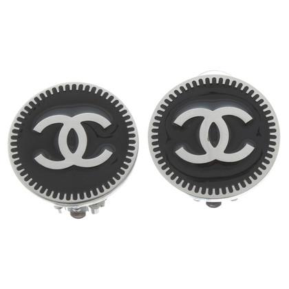 Chanel Orecchini a clip con logo