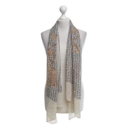 Rena Lange Silk scarf with paisley pattern