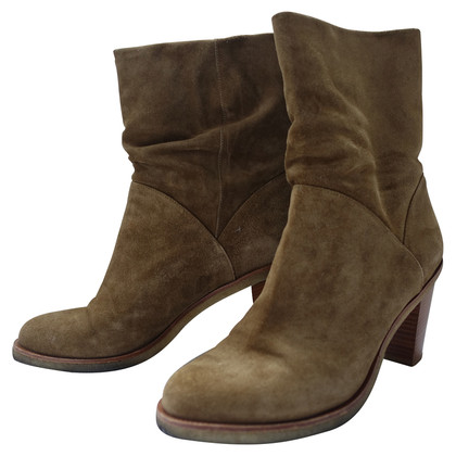 Robert Clergerie Suede Ankle Boots in khaki