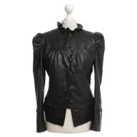 Hugo Boss Leather jacket in black