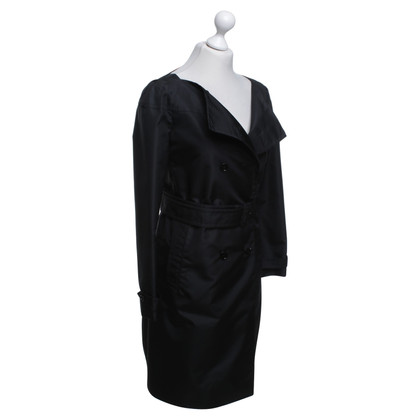 Prada Shimmering coat in black