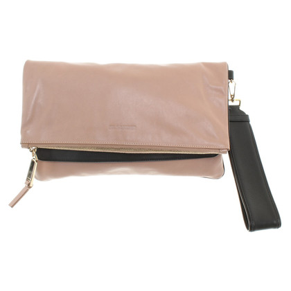 Jil Sander Lederclutch in Bicolor