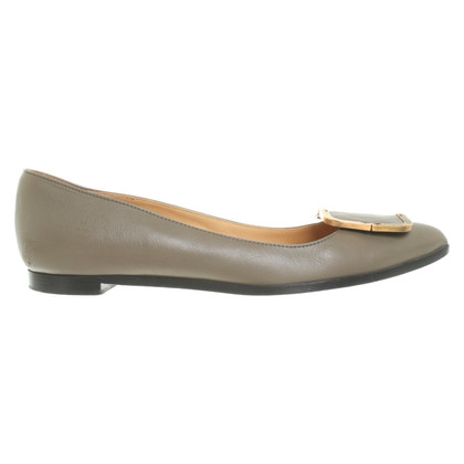 Lanvin Leather ballet flats in khaki