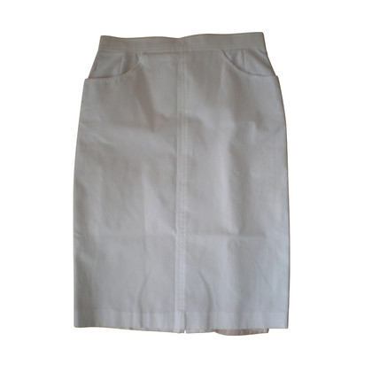 Bogner White skirt with gold button