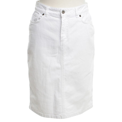 Dolce & Gabbana Jeans skirt in white