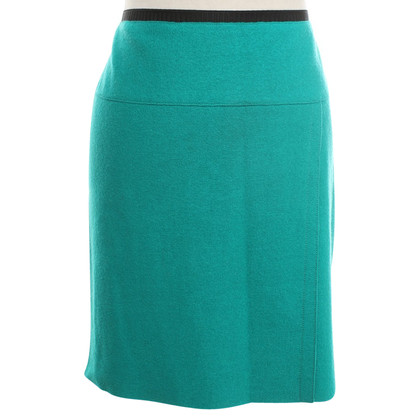 Marc Cain Wollen rok in turquoise groen