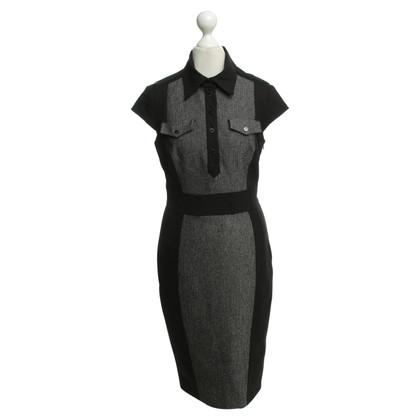 Karen Millen Blouse dress in black / white