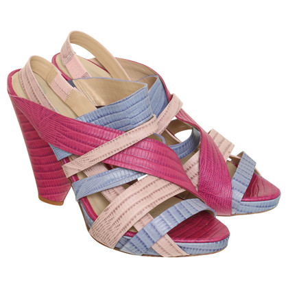 Paco Gil High heel sandal with color-mix