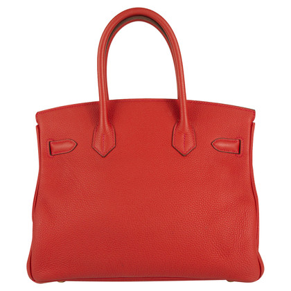 "Hermès ""Birkin Bag 30 Togo Leather Rouge Pivoine"""