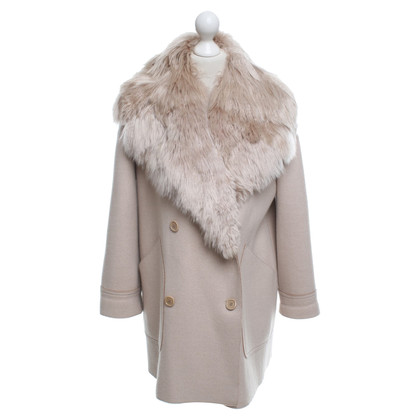 Agnona Jacket with alpaca fur trim