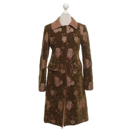 Alberta Ferretti Mantel im Used-Look Bunt / Muster