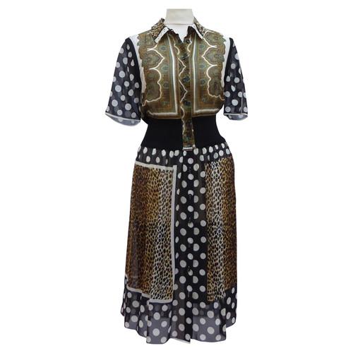 c317b229 Dolce & Gabbana Patterned silk dress - Second Hand Dolce & Gabbana ...