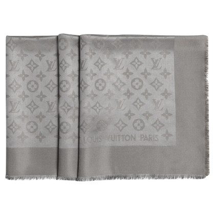Louis Vuitton Sjaal Monogram Verone Gray Beige