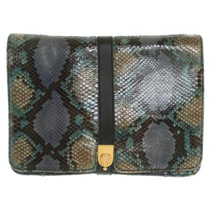 Aigner Python leather handbag