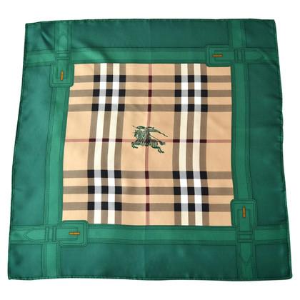 Burberry Foulard en soie avec motif à carreaux