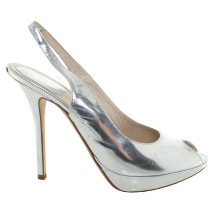 Christian Dior Peeptoes in Silver