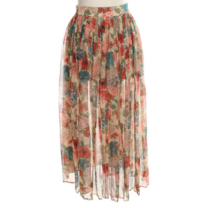 Mulberry Silk skirt with floral pattern
