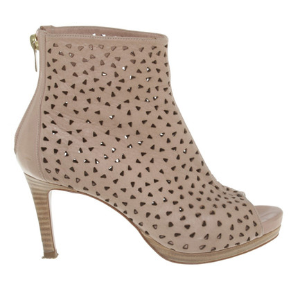 Pura Lopez Peeptoes in Beige