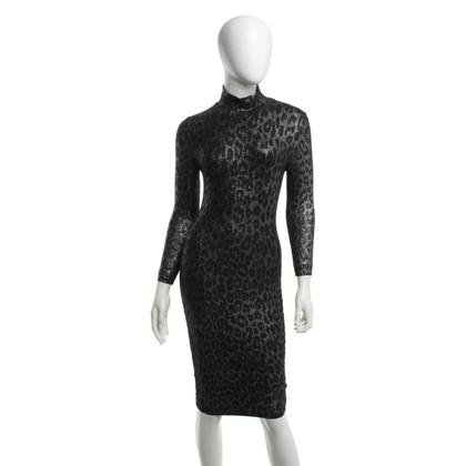 Blumarine Gebreide jurk met leopard patroon