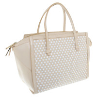 Hugo Boss Handbag in beige / white