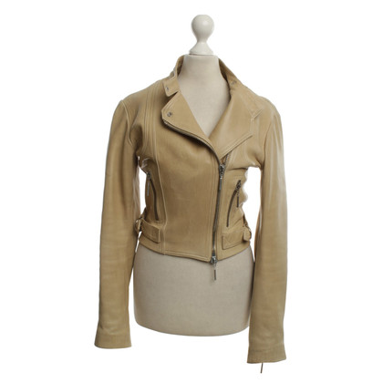 Plein Sud  Leather Jacket in Beige