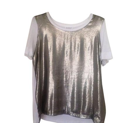 Claudie Pierlot Shirt in Weiß/Gold