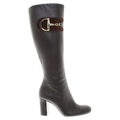 Gucci Leren laarzen in bruin