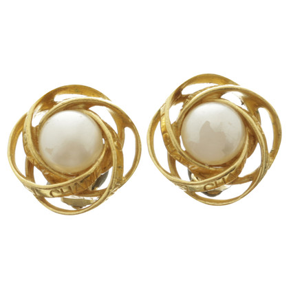 Chanel Earrings pearls-look