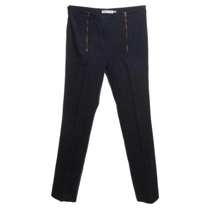 See by Chloé Wool trousers in dark blue