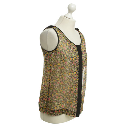 Rag & Bone Silk-Top with floral pattern