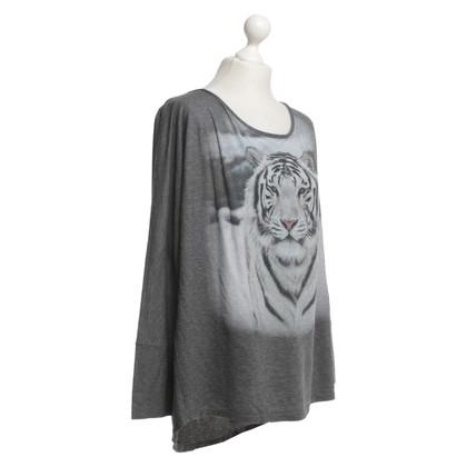 Marc Cain camicia di stampa in grigio