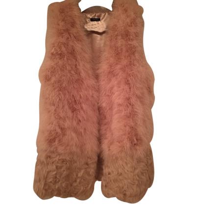 Twin-Set Simona Barbieri Vest with fur trim