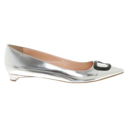Rupert Sanderson Ballerinas in silver